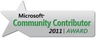 MS Community Contributor 2011 | Award